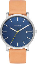 Skagen Men's Hagen Natural Leather Strap Watch 40mm SKW6279
