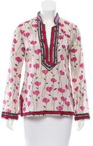 Tory Burch Printed Embroidered Top
