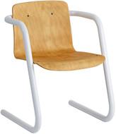 Rejuvenation Plywood School Chair w/ Powder-Coated Base
