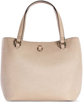 Karen Millen Embossed Bucket Bag - Nude