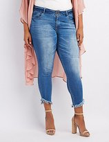 Charlotte Russe Plus Size Dollhouse Frayed Hem Skinny Jeans