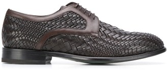 Etro Woven Low-Heel Derby Shoes