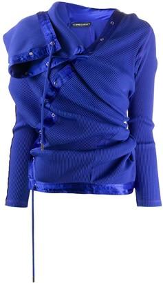 Y/Project Lace-Up Asymmetric Sweatshirt