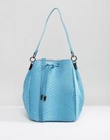 Pauls Boutique Bucket Bag In Faux Snakeskin