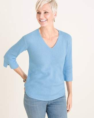 Chico's Chicos Ribbed Pullover