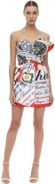 Moschino Printed Duchesse Mini Bustier Dress