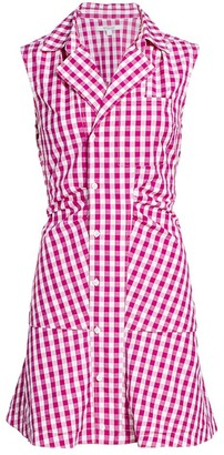 Derek Lam 10 Crosby Satina Gingham Shirt Dress
