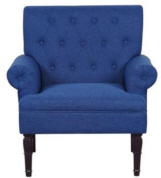 """Schleicher 29.5"""" Armchair Charlton Home Fabric: Dark Gray Linen"""