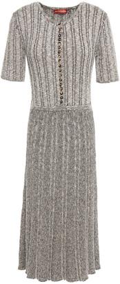 Altuzarra Marled Ribbed Cotton-blend Dress