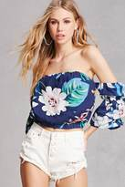 Forever 21 FOREVER 21+ Tropical Floral Crop Top