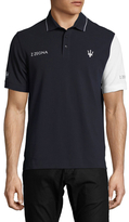 Z Zegna Maserati Colorblocked Pique Polo
