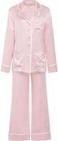 Olivia von Halle Coco Nougat Silk Pajama Set