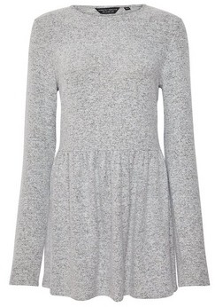 Dorothy Perkins Womens Grey Brushed Tunic, Grey