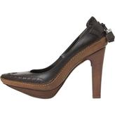 Celine Brown Leather Heels