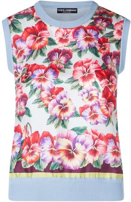 Dolce & Gabbana Sleeveless Floral Tank Top