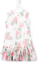 MonnaLisa floral print dress - kids - Polyester - 4 yrs