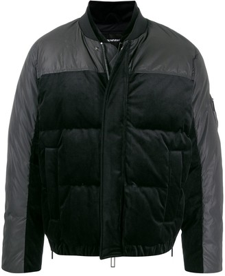 Emporio Armani panelled two-tone puffer jacket