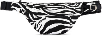 Sacai Porter Zebra Nylon Waist Bag in White & Black | FWRD