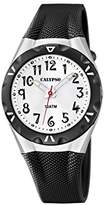 Calypso Unisex Quartz Watch with White Dial Analogue Display and Black Plastic Strap K6064/2