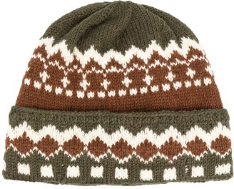Neil Barrett Intarsia Knit Beanie Hat