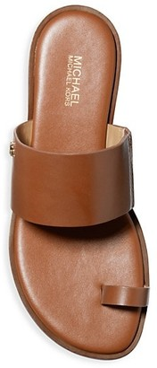 MICHAEL Michael Kors August Flat Leather Sandals