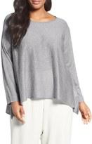 Eileen Fisher Fine Gauge Knit Pullover (Plus Size)