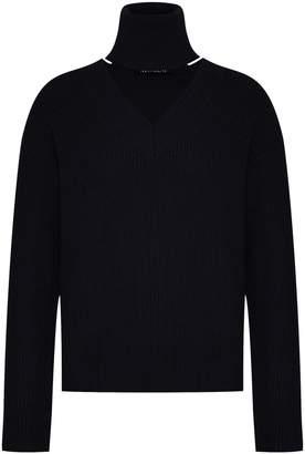 Mo&Co. Ribbed Merino Wool Sweater