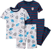 Carter's 4-pc. Sports Cotton Pajama Set - Baby Boys newborn-24m