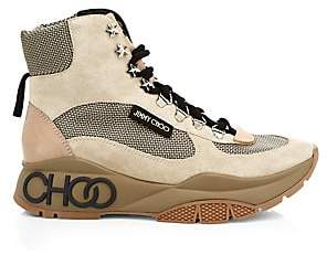 Jimmy Choo Women's Inca Patchwork Platform Hiking Boots