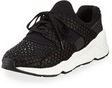 Ash Mood Embellished Knit Sneaker, Black