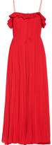 ADAM by Adam Lippes Cutout Pleated Chiffon Gown