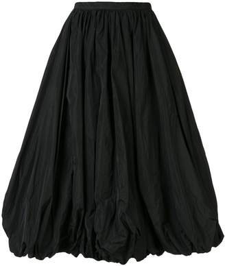 Co gathered hem pleated skirt