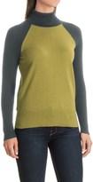 Nomadic Traders Maple & Birch Color-Block Turtleneck Sweater (For Women)