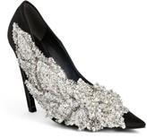 Balenciaga Women's Embellished Pointy Toe Pump