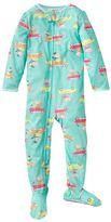 Carter's driving monkeys footed pajamas - toddler