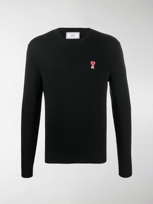 Ami Crew Neck Embroidered Logo Jumper