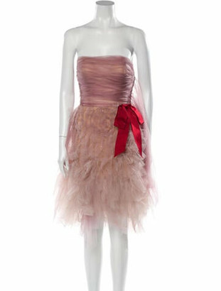 Reem Acra Silk Mini Dress w/ Tags Pink