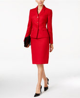 Le Suit Tweed Three-Button Skirt Suit