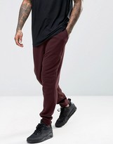 Asos Dropcrotch Joggers In Burgundy