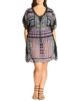 City Chic Printed Caftan