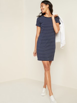 Old Navy Fitted Striped Crew-Neck Tee Dress for Women