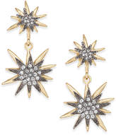 INC International Concepts Gold-Tone Pave Starburst Drop Earrings, Created for Macy's