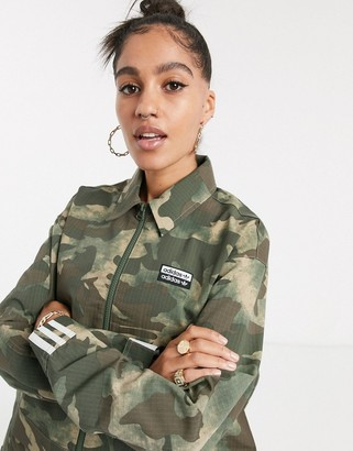 adidas RYV cropped jacket in camo
