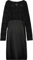 MM6 MAISON MARGIELA Embroidered tulle and satin midi dress