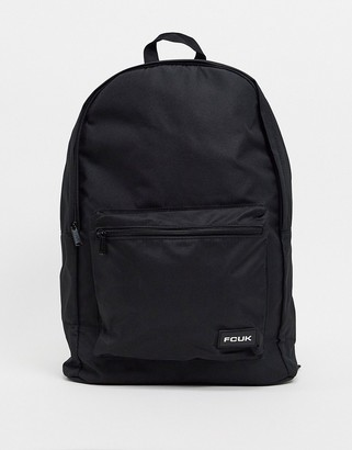 French Connection logo backpack in black
