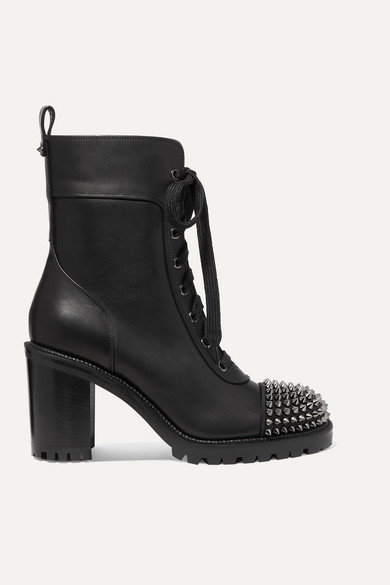best website 5248e 2e7d8 Ts Croc 70 Spiked Leather Ankle Boots - Black