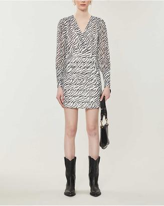 Maje Ribane zebra-printed chiffon mini dress