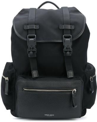 Giorgio Armani Double-Clip Cargo Backpack