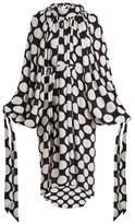 Awake Giant polka-dot print gathered crepe dress