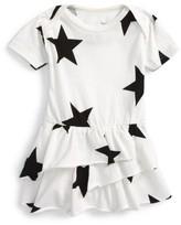 Nununu Infant Girl's Star All In One Skirted Romper
